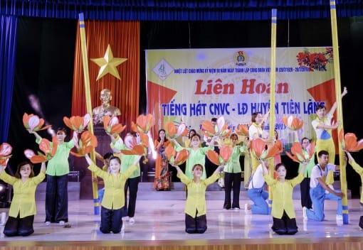 LĐLĐ Tiên Lãng tổ chức liên hoan Tiếng hát CNVCLĐ chào mừng 90 năm ngày thành lập Công đoàn Việt Nam