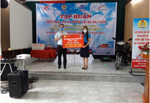 Liên đoàn Lao động quận Kiến An tổ chức Hội nghị tập huấn kiến thức và kỹ năng lái xe an toàn