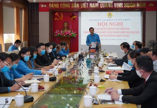 Liên đoàn Lao động thành phố tổ chức Hội nghị đánh giá kết quả công tác phát triển Đảng trong CNLĐ tại các doanh nghiệp ngoài nhà nước