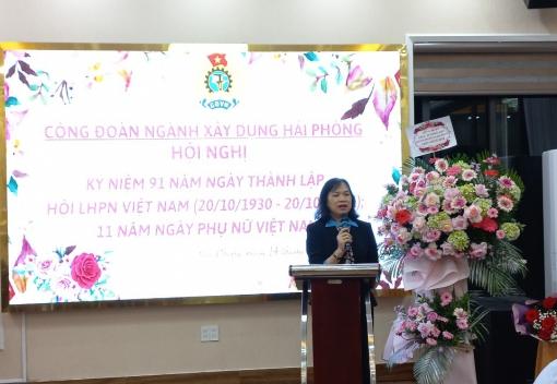 Ngành Xây dựng kỷ niệm 91 năm Ngày thành lập Hội LHPN  Việt Nam (20/10/1930 - 20/10/2021)