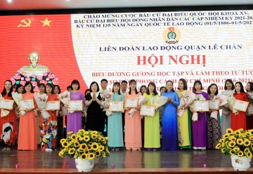 Liên đoàn Lao động quận Lê Chân biểu dương gương Học tập và làm theo tư tưởng, đạo đức, phong cách Hồ Chí Minh 2016 - 2021; LĐG- LĐST 2020