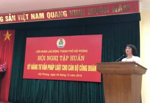 Liên đoàn Lao động thành phố tổ chức Hội nghị tập huấn kỹ năng tư vấn pháp luật cho cán bộ công đoàn