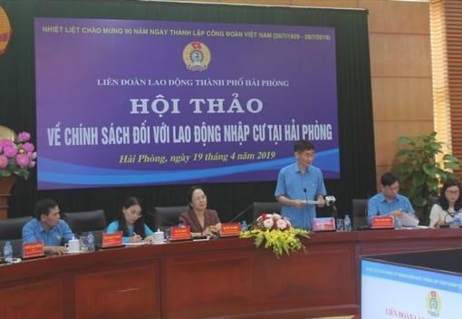 Hội thảo về chính sách lao động nhập cư tại Hải Phòng