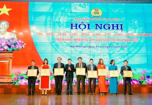 Hội nghị tổng kết hoạt động công đoàn và phong trào thi đua năm 2020; triển khai nhiệm vụ năm 2021 công đoàn Khu Kinh tế Hải Phòng