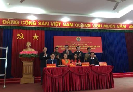 LĐLĐ quận Hải An tổng kết công tác công đoàn năm 2020, triển khai nhiệm vụ và ký giao ước thi đua năm 2021