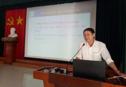 LĐLĐ huyện Tiên Lãn tập huấn nghiệp vụ cán bộ công đoàn năm 2018