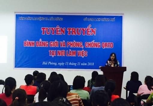 Liên đoàn Lao động thành phố tổ chức tuyên truyền bình đẳng giới và phòng, chống bạo lực trên cơ sở giới năm 2018