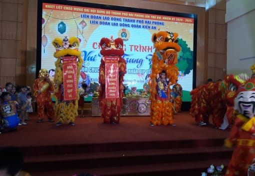 Liên đoàn Lao động quận Kiến An tổ chức Chương trình Vui Tết Trung thu năm 2020