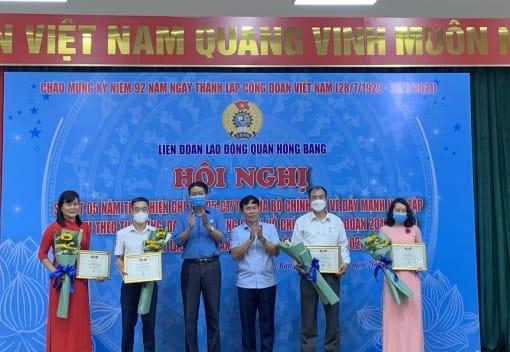 Liên đoàn Lao động quận Hồng Bàng biểu dương Lao động sáng tạo, Lao động giỏi năm 2020