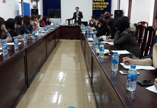 Liên đoàn Lao động huyện Vĩnh Bảo tổ chức tập huấn Thoả ước lao động tập thể