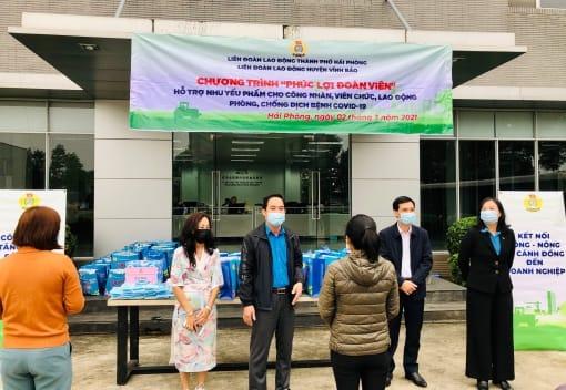 Liên đoàn Lao động huyện Vĩnh Bảo tổ chức chương trình