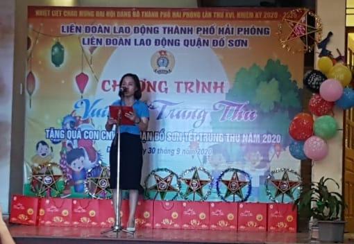 """Liên đoàn Lao động quận Đồ Sơn tổ chức chương trình """" Vui Tết Trung thu năm 2020"""""""
