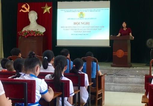 Liên đoàn Lao động quận Kiến An tổ chức Hội nghị biểu dương con CNVCLĐ vượt khó học giỏi và đạt thành tích cao trong học tập năm học 2019 - 2020
