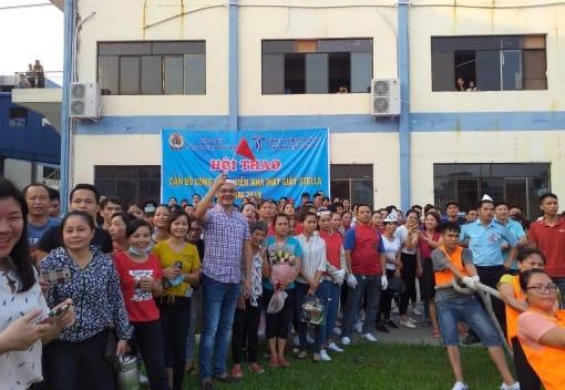 Hội thao trong CNLĐ Công đoàn công ty TNHH Sao Vàng  thuộc Công đoàn ngành Công Thương Hải Phòng