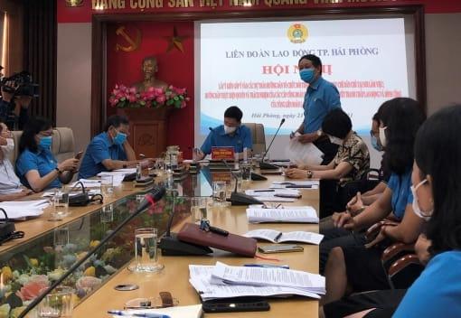 LĐLĐ thành phố tổ chức Hội nghị lấy ý kiến góp ý vào các dự thảo Hướng dẫn của Tổng LĐLĐ Việt Nam