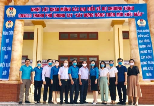 Liên đoàn Lao động huyện An Lão tổ chức Hội nghị trao hỗ trợ xây dựng nông thôn mới kiểu mẫu