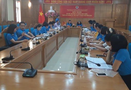 Khối thi đua Liên đoàn Lao động quận tổ chức Hội nghị sơ kết 6 tháng đầu năm, triển khai nhiệm vụ trọng tâm 6 tháng cuối năm 2020