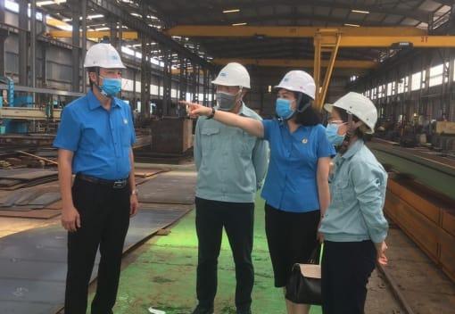 LĐLĐ thành phố kiểm tra công tác phòng, chống dịch bệnh Covid - 19 tại quận Hồng Bàng