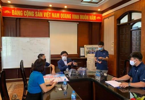 LĐLĐ quận Hồng Bàng kiểm tra, nắm tình hình công tác phòng chống dịch bệnh Covid-19 và những khó khăn tại các doanh nghiệp trên địa bàn quận