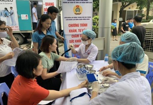 Liên đoàn Lao động quận Hồng Bàng tổ chức chương trình khám sức khỏe cho 208 nữ công nhân lao động thuộc 02 đơn vị Công đoàn cơ sở