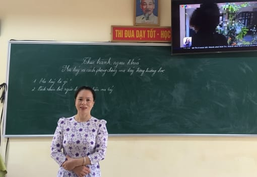 Nữ giáo viên đam mê sáng tạo