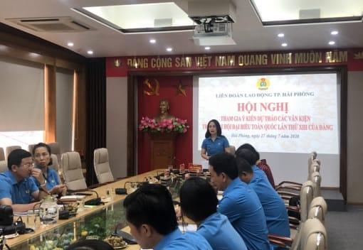 LĐLĐ thành phố: Tổ chức hội nghị tham gia ý kiến vào dự thảo các văn kiện trình Đại hội XIII của Đảng