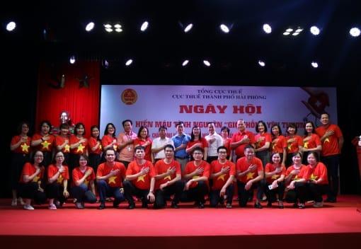 Công đoàn Cục Thuế thành phố tổ chức Ngày hội hiến máu