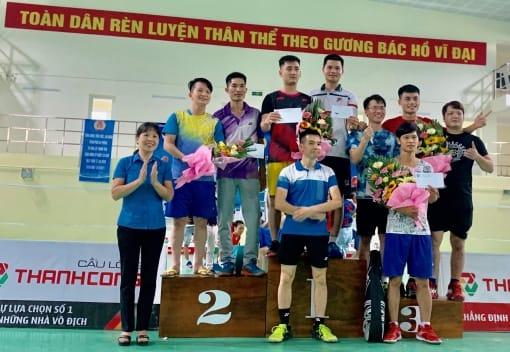 Liên đoàn Lao động huyện An Lão tổ chức Giải Cầu lông CNVCLĐ lần thứ IX