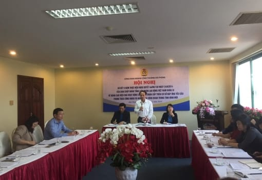 Công đoàn ngành Công Thương Hải Phòng tổ chức Hội nghị  sơ kết 5 năm thực hiện Nghị quyết 4a/NQ-TLĐ