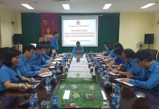 PCT Thường trực Tổng LĐLĐ VN Trần Thanh Hải làm việc tại Hải Phòng