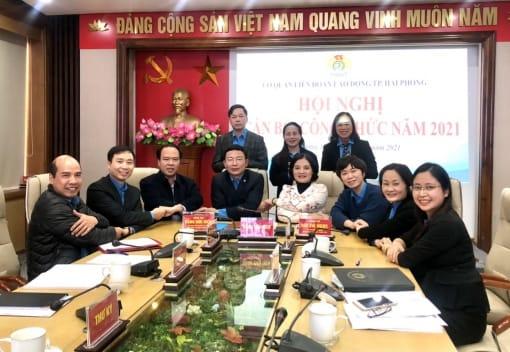 Hội nghị cán bộ, công chức Cơ quan Liên đoàn Lao động thành phố năm 2021