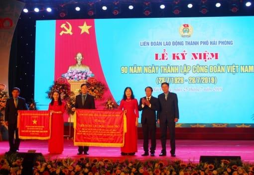 Phóng sự phát tại Lễ kỷ niệm 90 năm Ngày thành lập Công đoàn Việt Nam