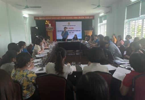 Liên đoàn Lao động quận Hồng Bàng tổ chức Hội nghị giao ban công đoàn các trường học năm học 2020 - 2021