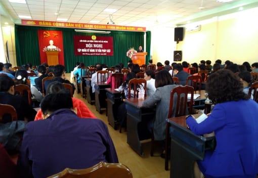 Liên đoàn Lao động thành phố tổ chức Hội nghị tập huấn kỹ năng tư vấn pháp luật cho cán bộ công đoàn.