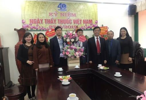 Thăm và chúc mừng các tập thể nhân kỷ niệm 64 năm Ngày Thầy thuốc Việt Nam 27/2