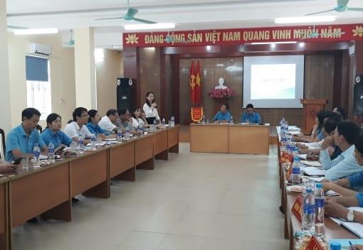 Khối thi đua LĐLĐ huyện sơ kết 6 tháng đầu năm 2019