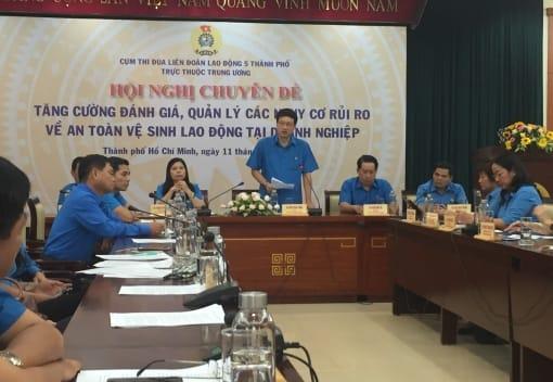 Hội nghị Cụm thi đua 5 thành phố trực thuộc Trung ương về công tác ATVSLĐ