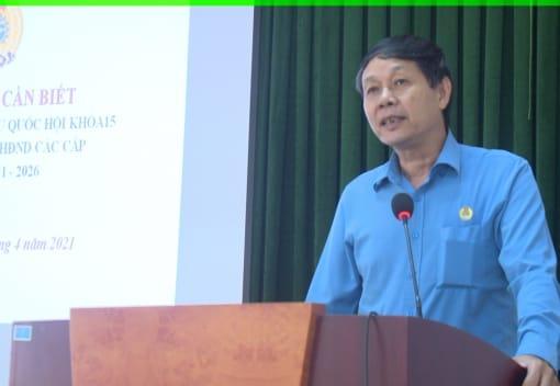 Liên đoàn Lao động huyện Kiến Thụy tuyên truyền bầu cử đại biểu Quốc hội khóa XV và bầu cử đại biểu HĐND các cấp nhiệm kỳ 2021 - 2026