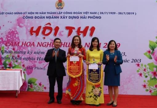 Hội thi cắm hoa nghệ thuật trong CNVCLĐ năm 2019 ngành Xây dựng