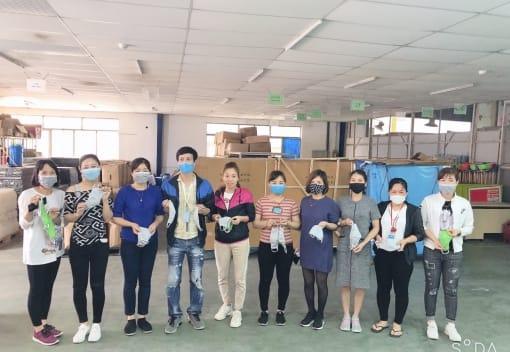 Công đoàn công ty TNHH CN giầy Aurora Việt Nam đồng hành cùng người lao động phòng chống dịch bệnh Covid-19