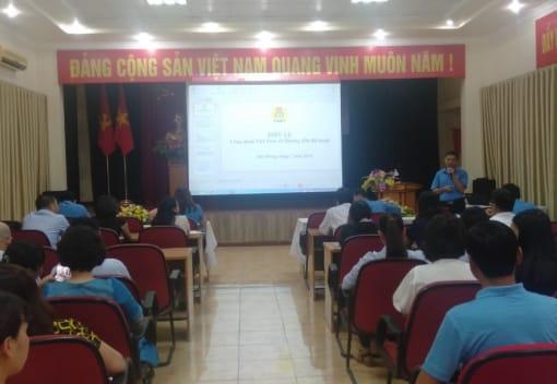 Công đoàn ngành Xây dựng Hải Phòng tổ chức tập huấn Điều lệ và Hướng dẫn thi hành Điều lệ Công đoàn Việt Nam khóa XII