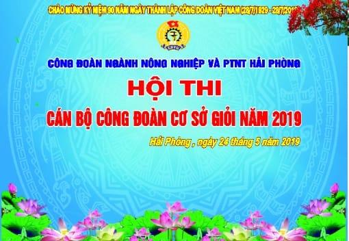 Hội thi cán bộ công đoàn cơ sở giỏi ngành Nông nghiệp và Phát triển nông thôn Hải Phòng