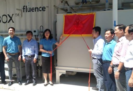 Lễ gắn biển Công trình xử lý nước biển công suất 1.500m3/ngày  tại Chi nhánh Cấp nước Cát Bà, Công ty Cổ phần Cấp nước Hải Phòng.