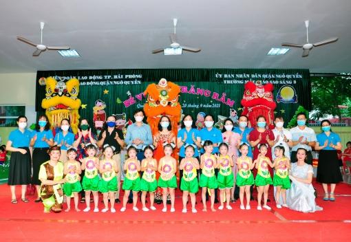 Liên đoàn Lao động Quận Ngô Quyền tổ chức Vui Tết Trung thu, tặng quà cho con công nhân, viên chức, lao động năm 2021