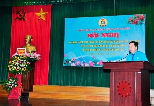 Liên đoàn Lao động quận Ngô Quyền kỷ niệm 91 năm Ngày thành lập Công đoàn Việt Nam; biểu dương cán bộ công đoàn tiêu biểu  năm 2019