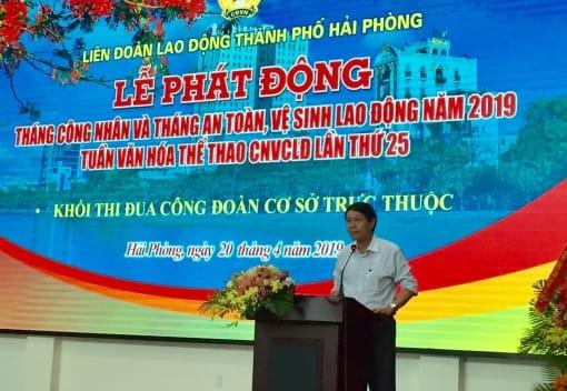 Khối Công đoàn cơ sở trực thuộc LĐLĐ thành phố tổ chức Lễ phát động Tháng công nhân