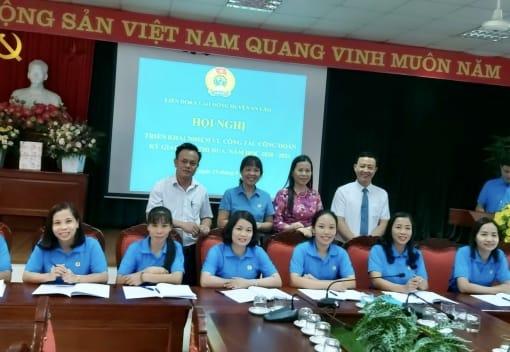 Liên đoàn Lao dộng huyện An Lão tổ chức Hội nghị triển khai nhiệm vụ công tác công đoàn năm học 2020-2021