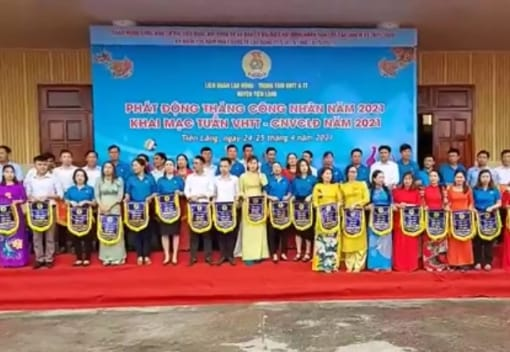 Liên đoàn lao động huyện Tiên Lãng tổ chức Phát động Tháng Công nhân