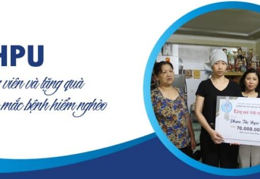 Công đoàn Đại học Dân lập Hải Phòng thăm, động viên và tặng quà công đoàn viên mắc bệnh hiểm nghèo