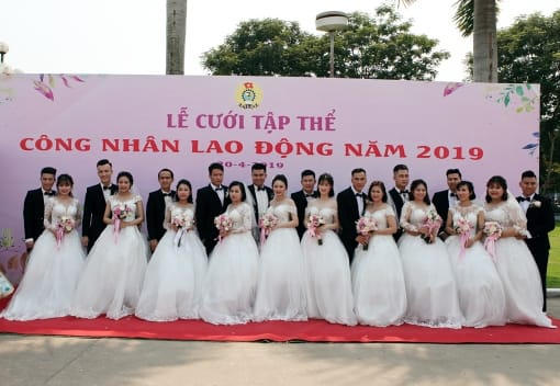 Lễ cưới tập thể công nhân lao động năm 2019
